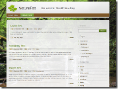 NatureFox主题