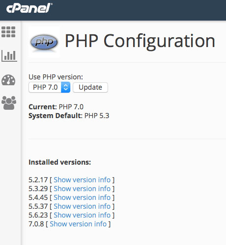 cpanel-php-version