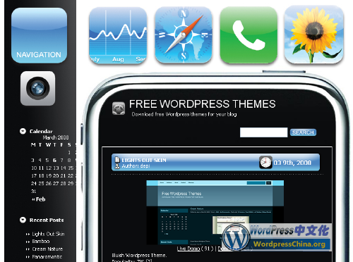 Iphone WordPress Theme